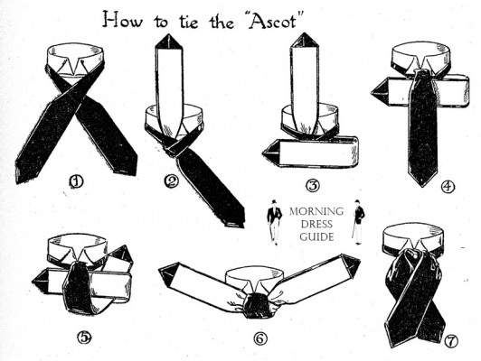 How to tie the Ascot